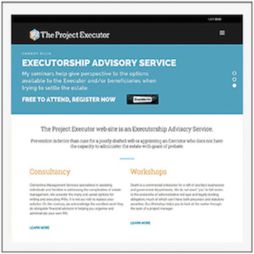 The Project Executor Home Page