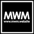 MW marketing Logo White Outline on Black